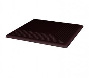 Угловая клинкерная ступень простая Paradyz Natural Brown, 300х300х11 мм