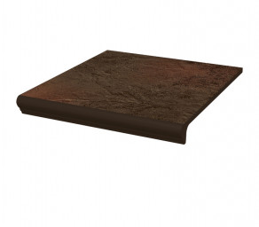 Фронтальная клинкерная ступень с капиносом Paradyz Semir Brown, 330*299*11 мм