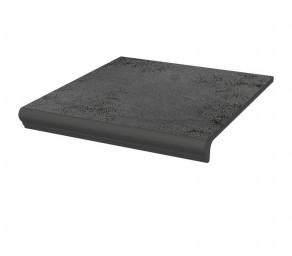 Фронтальная клинкерная ступень с капиносом Paradyz Semir Grafit, 330*299*11 мм