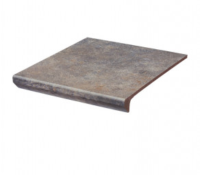 Фронтальная клинкерная ступень с капиносом Paradyz Viano Grys, 330*299*11 мм