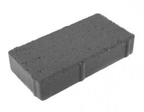 Тротуарная плитка «Брусчатка» серая, 200х100х40 мм