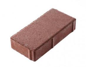 Тротуарная плитка «Брусчатка» красная, 200х100х40 мм
