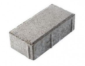 Тротуарная плитка «Брусчатка» серая, 200х100х60 мм