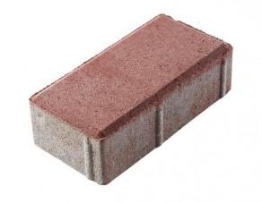 Тротуарная плитка «Брусчатка» красная, 200х100х60 мм