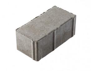 Тротуарная плитка «Брусчатка» серая, 200х100х80 мм