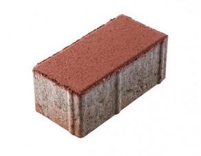 Тротуарная плитка «Брусчатка» красная, 200х100х80 мм