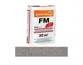 Цветной раствор с трассом для заполнения швов quick-mix FM.T стально-серый, 30 кг