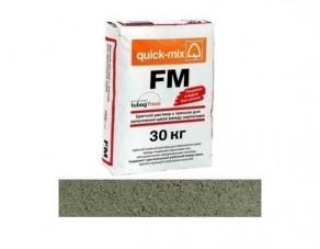 Цветной раствор с трассом для заполнения швов quick-mix FM.U горошково-зелёный, 30 кг