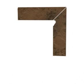 Цоколь структурный правый/левый Paradyz Semir Beige, 300*81*11 мм