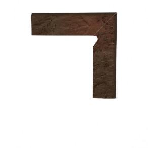 Цоколь структурный правый/левый Paradyz Semir Brown, 300*81*11 мм