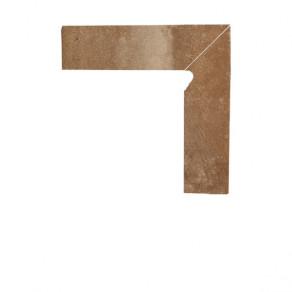 Цоколь структурный правый/левый Paradyz Scandiano Rosso, 300*81*11 мм