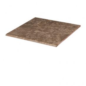 Фронтальная клинкерная ступень простая Paradyz Ilario Brown, 300*300*11 мм