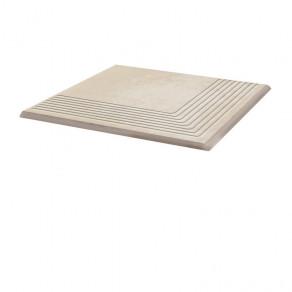 Угловая клинкерная ступень простая Paradyz Cotto Crema, 300*300*11 мм