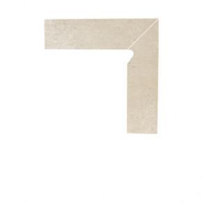 Цоколь гладкий правый/левый Paradyz Cotto Crema, 300*81*11 мм
