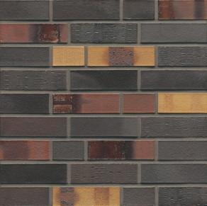 Клинкерный облицовочный кирпич Muhr L40 Kobalt Spezial Geflammt WF, 210*100*50