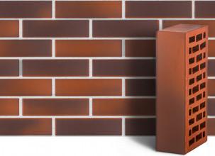 Кирпич лицевой керамический ЛСР пустотелый красный флэшинг гладкий