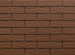 Клинкерная фасадная плитка под кирпич Brown Rustic 240*65*6.5 мм