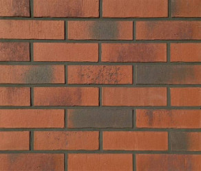 Клинкерная фасадная плитка Feldhaus Klinker R754 Vascu carmesi carbo NF14, 240*14*71 мм