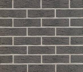 Клинкерная фасадная плитка Feldhaus Klinker R735 Anthracit mana рифлёная NF9, 240*9*71 мм