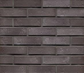 Клинкерная фасадная плитка Feldhaus Klinker R720 Accudo cerasi ferrum рифлёная NF14, 240*14*71 мм