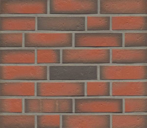 Клинкерная фасадная плитка Feldhaus Klinker R719 Accudo terreno viva рельефная NF14, 240*14*71 мм