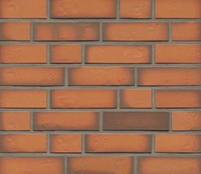 Клинкерная фасадная плитка Feldhaus Klinker R718 Accudo terracotta vivo рельефная NF14, 240*14*71 мм