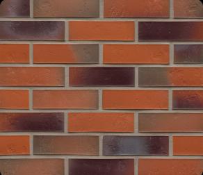 Клинкерная фасадная плитка Feldhaus Klinker R715 Accudo terreno bluastro рельефная NF14, 240*14*71 мм