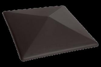 Клинкерный заборный оголовок KING KLINKER Вулканический черный (18)