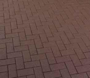 Тротуарная клинкерная брусчатка Feldhaus Klinker P502 DF umbra plano