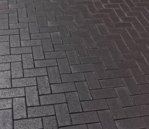 Тротуарная клинкерная брусчатка Feldhaus Klinker P609 DF umbra ferrum