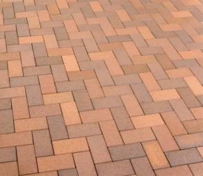 Тротуарная клинкерная брусчатка Feldhaus Klinker P203 DF areno trigo