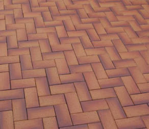 Тротуарная клинкерная брусчатка Feldhaus Klinker P249 DF areno ferrum