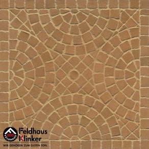 Тротуарная клинкерная мозаика Feldhaus Klinker M203 DF areno trigo