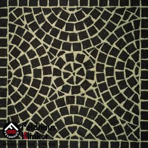 Тротуарная клинкерная мозаика Feldhaus Klinker M502 DF umbra plano