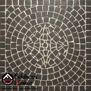 Тротуарная клинкерная мозаика Feldhaus Klinker M609 DF umbra ferrum