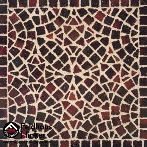 Тротуарная клинкерная мозаика Feldhaus Klinker M409 DF gala ferrum