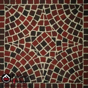 Тротуарная клинкерная мозаика Feldhaus Klinker M403 DF gala flamea