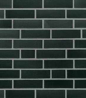 Клинкерная фасадная плитка под кирпич Roben Faro schwarz-nuanciert glatt, 240*9*71 мм