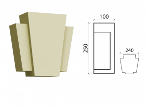 Замковый камень ZK-04