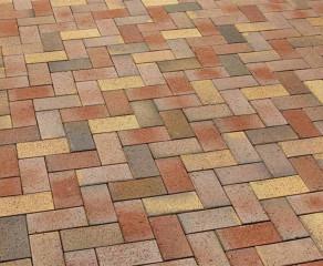 Тротуарная клинкерная брусчатка Feldhaus Klinker P415 KDF gala solea