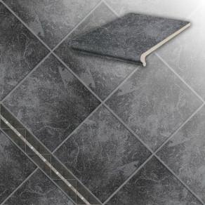 Клинкерная напольная плитка Stroeher Roccia 845 nero, 294*294*10 мм