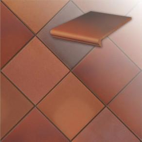 Клинкерная напольная плитка Stroeher Terra 316 patrizierrot ofenbunt, 240*240*12 мм