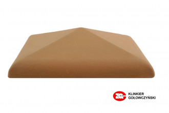 Колпак для забора керамический ZG-Clinker красный
