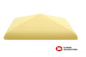 Колпак для забора керамический ZG-Clinker желтый