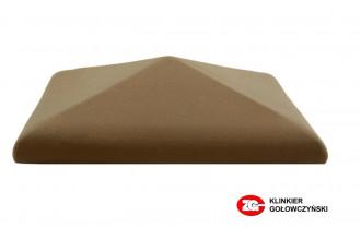 Колпак для забора керамический ZG-Clinker коричневый