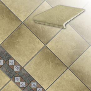 Клинкерная напольная плитка Stroeher Roccia 835 sandos, 294*294*10 мм