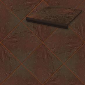 Напольная клинкерная плитка Paradyz, Semir Brown 300*300*11 мм
