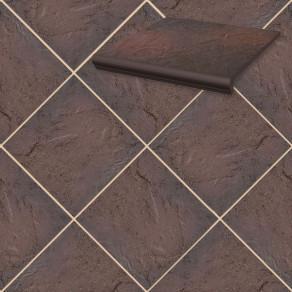 Напольная клинкерная плитка Paradyz, Semir Rosa 300*300*11 мм