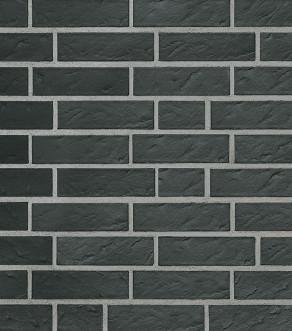 Клинкерная фасадная плитка под кирпич Roben Faro schwarz-nuanciert geschiefert NF, 240*14*71 мм