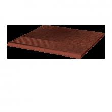 Фронтальная клинкерная ступень простая Paradyz Cloud Rosa Duro, 300х300х11 мм
